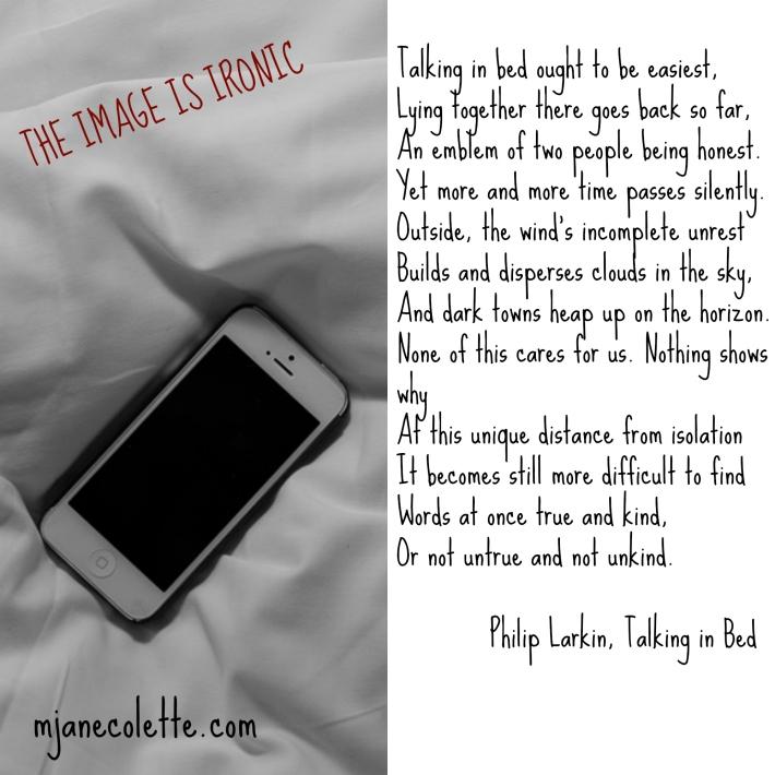 mjc-Philip Larkin Talking in Bed