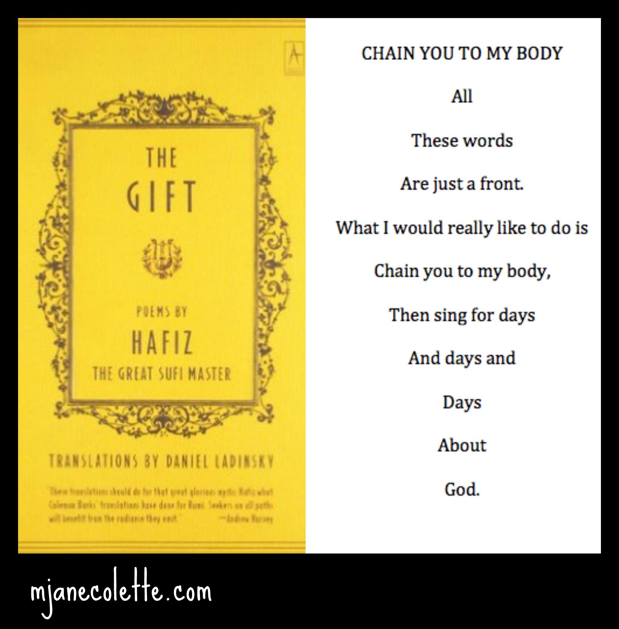 Chain you to my body / Hafiz | m jane colette