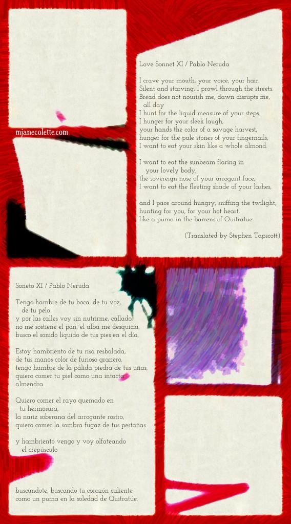 mjc-Love Sonnet XI Pablo Neruda